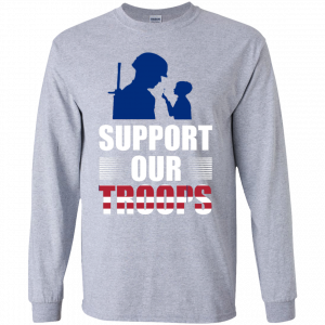 Long Sleeve - Support Our Troops top quality shirts