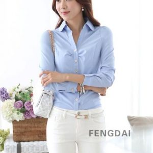Buy top quality shirts In UK Spring Blouse Shirt Cardigans Office Clothing Female Casual