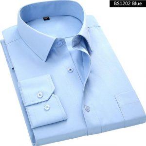 Blue Long Sleeved Business Shirt for Men