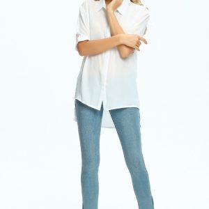 Women's Chiffon Half Sleeve top quality shirts