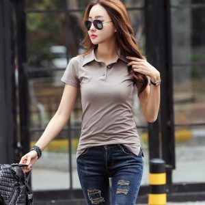 Buy top quality shirts In UK Coffee Color Polo for women buy online in UK