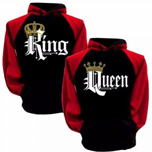 CoolShirts Crewneck Black and Red King Hoodie Sweatshirt