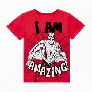 Buy top quality shirts In UK Spiderman Lover Red Round Neck Short Sleeve Tees for Boy