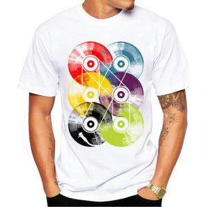 CoolShirts Retro Fashion T-Shirt Short Sleeve Fractal Pattern for Men