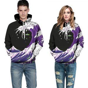 CoolShirts Digital Printed Pullover Unisex Hoodie Sweatshirt