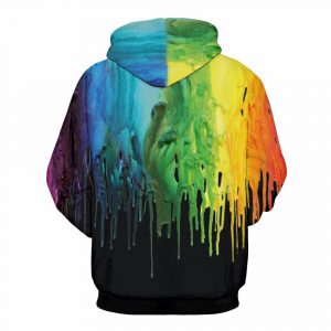 Black Paint Design Unisex Hoodie Sweatshirt