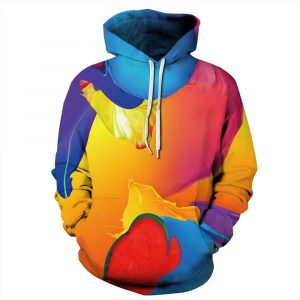 CoolShirts Colorful Dyed Pullover Unisex Hoodie / Sweatshirt