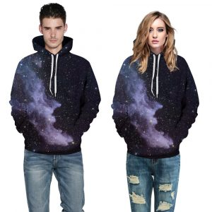 CoolShirts Colorful Realistic Cloud Design Unisex Hoodie / Sweatshirt