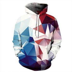 CoolShirts Diamond Shape Pullover Unisex Hoodie / Sweatshirt