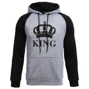 Buy CoolShirts Grey Black King Design Unisex Hoodie Sweatshirt
