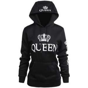 Black Queen Design Hoodie Sweatshirt
