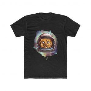 Brown Astronaut cat illustration t shirt