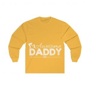 AWESOME DADDY colored cotton t shirt